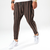/achat-pantalons-carreaux/ikao-pantalon-a-rayures-f688-marron-orange-202520.html