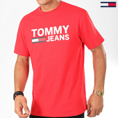 /achat-t-shirts/tommy-jeans-tee-shirt-classics-logo-4837-rouge-202566.html