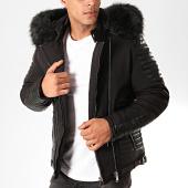 /achat-vestes/classic-series-veste-zippee-capuche-fourrure-9306-noir-202612.html