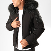 /achat-vestes/classic-series-veste-zippee-capuche-fourrure-9305-noir-202614.html