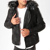/achat-vestes/classic-series-veste-zippee-capuche-fourrure-88869-noir-202616.html