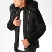 /achat-vestes/classic-series-veste-zippee-capuche-fourrure-9307-noir-202622.html