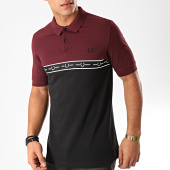 /achat-polos-manches-courtes/fred-perry-polo-manches-courtes-a-bande-taped-chest-m7510-noir-bordeaux-202642.html