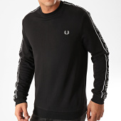 /achat-sweats-col-rond-crewneck/fred-perry-sweat-crewneck-a-bandes-taped-shoulder-m7538-noir-202645.html