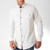 /achat-chemises-manches-longues/black-needle-chemise-manches-longues-y-3433-blanc-casse-marron-bleu-marine-202798.html