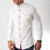 /achat-chemises-manches-longues/black-needle-chemise-manches-longues-y-3433-blanc-casse-bordeaux-202802.html