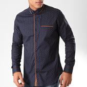 /achat-chemises-manches-longues/black-needle-chemise-manches-longues-y-3432-bleu-marine-marron-202806.html