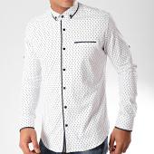 /achat-chemises-manches-longues/black-needle-chemise-manches-longues-y-3432-blanc-bleu-marine-202812.html