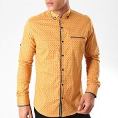 /achat-chemises-manches-longues/black-needle-chemise-manches-longues-y-3432-marron-bleu-marine-202814.html