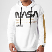 /achat-sweats-capuche/nasa-sweat-capuche-admin-gold-blanc-202762.html