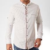 /achat-chemises-manches-longues/black-needle-chemise-manches-longues-y-3423-blanc-marron-202819.html