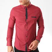 /achat-chemises-manches-longues/black-needle-chemise-manches-longues-y-3431-bordeaux-202821.html