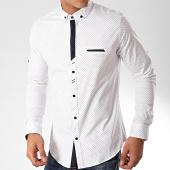 /achat-chemises-manches-longues/black-needle-chemise-manches-longues-y-3431-blanc-bleu-marine-202825.html