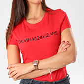 /achat-t-shirts/calvin-klein-tee-shirt-femme-institutional-logo-3127-rouge-202914.html