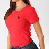 /achat-t-shirts/calvin-klein-tee-shirt-femme-ck-embroidery-2883-rouge-202916.html