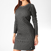 /achat-robes/calvin-klein-robe-pull-femme-long-sleeve-rib-3008-gris-anthracite-202924.html