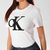 /achat-t-shirts/calvin-klein-tee-shirt-femme-flock-monogram-ck-2919-blanc-202926.html