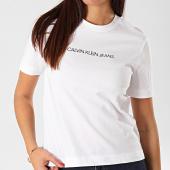 /achat-t-shirts/calvin-klein-tee-shirt-femme-shrunken-institutional-logo-2879-blanc-202931.html