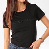 /achat-t-shirts/calvin-klein-tee-shirt-femme-institutional-logo-3127-noir-202939.html