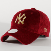 /achat-casquettes-de-baseball/new-era-casquette-femme-9forty-mlb-quilted-12134625-new-york-yankees-bordeaux-202876.html