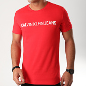 /achat-t-shirts/calvin-klein-tee-shirt-institutional-logo-7856-rouge-blanc-203029.html