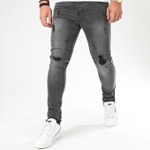 /achat-jeans/lbo-jean-skinny-avec-dechirures-72148-u3-gris-fonce-denim-203016.html
