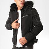 /achat-vestes/classic-series-veste-zippee-capuche-fourrure-88837-noir-203097.html