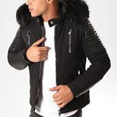 /achat-vestes/classic-series-veste-zippee-capuche-fourrure-99103-noir-203098.html