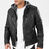 /achat-vestes-biker/classic-series-veste-biker-capuche-xh-88191a-noir-gris-anthracite-203100.html