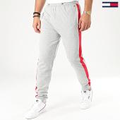 /achat-pantalons-joggings/tommy-hilfiger-pantalon-jogging-a-bandes-1586-gris-chine-203086.html