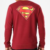 /achat-sweats-col-rond-crewneck/superman-sweat-crewneck-original-logo-back-bordeaux-203278.html