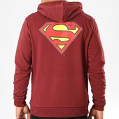 /achat-sweats-capuche/superman-sweat-capuche-original-logo-back-bordeaux-203287.html
