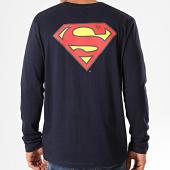 /achat-t-shirts-manches-longues/superman-tee-shirt-manches-longues-original-logo-back-bleu-marine-203292.html