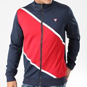 /achat-vestes/guess-veste-zippee-tricolore-u01q02-rjq30-bleu-marine-rouge-blanc-203323.html