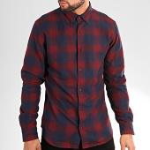 /achat-chemises-manches-longues/jack-and-jones-chemise-manches-longues-a-carreeaux-tommy-bordeaux-bleu-marine-203284.html