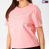/achat-t-shirts/tommy-jeans-tee-shirt-femme-outline-flag-7537-rose-argente-203203.html