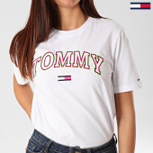 /achat-t-shirts/tommy-jeans-tee-shirt-femme-neon-collegiate-7540-blanc-203208.html
