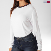 /achat-t-shirts-manches-longues/tommy-jeans-tee-shirt-femme-manches-longues-crepe-solid-7562-blanc-203217.html