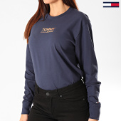 /achat-t-shirts-manches-longues/tommy-jeans-tee-shirt-femme-manches-longues-chest-metallic-7538-bleu-marine-203361.html