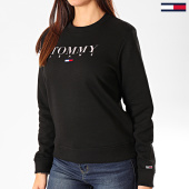 /achat-sweats-col-rond-crewneck/tommy-jeans-sweat-crewneck-femme-essential-logo-7543-noir-203367.html