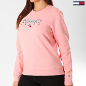 /achat-sweats-col-rond-crewneck/tommy-jeans-sweat-crewneck-femme-essential-logo-7543-rose-203369.html
