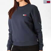 /achat-sweats-col-rond-crewneck/tommy-jeans-sweat-crewneck-femme-tommy-badge-7786-bleu-marine-203376.html