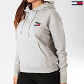 /achat-sweats-capuche/tommy-jeans-sweat-capuche-femme-tommy-badge-7787-gris-chine-203378.html