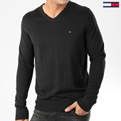 /achat-pulls/tommy-hilfiger-pull-col-v-core-cotton-silk-4979-noir-203416.html