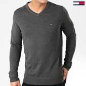/achat-pulls/tommy-hilfiger-pull-col-v-core-cotton-silk-4979-gris-anthracite-chine-203417.html