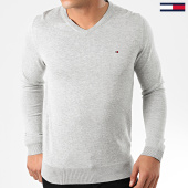 /achat-pulls/tommy-hilfiger-pull-col-v-core-cotton-silk-4979-gris-chine-203419.html