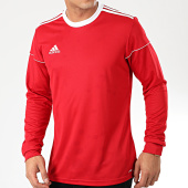 /achat-t-shirts-manches-longues/adidas-tee-shirt-manches-longues-a-bandes-squad-17-bj9186-rouge-203626.html