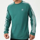 /achat-t-shirts-manches-longues/adidas-tee-shirt-manches-longues-a-bandes-3-stripes-ek0257-vert-203665.html