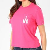 /achat-t-shirts-poche/calvin-klein-tee-shirt-poche-femme-mirrored-monogram-2935-rose-203474.html