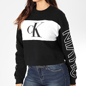 /achat-sweats-col-rond-crewneck/calvin-klein-jeans-sweat-crewneck-crop-femme-blocking-statement-logo-2980-noir-blanc-203476.html